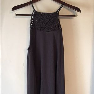 Billabong above the knee crochet dress size M EUC